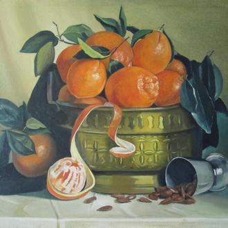 Натюрморт с апельсинами (холст, масло)