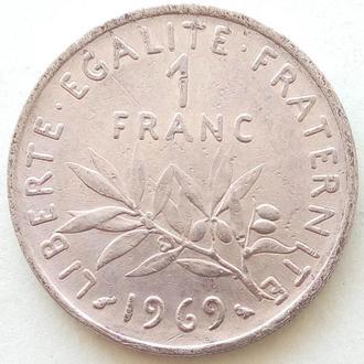 Франция 1 франк, 1969