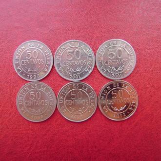 Боливия 50 сентаво 1995 - 2012