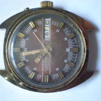 часы Слава редкая модель рабочие сохран 2406 2