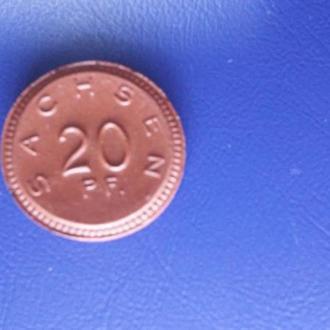 20 пфеннигов  1921 Саксония (нотгельд)