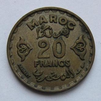 Мароккко 20 франков 1952 (KM#50)
