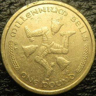 1 фунт 2001 AA о.Мен