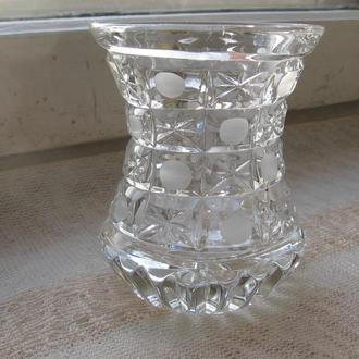 Ваза мал хрусталь BOGEMIA GLASS нов (ЧЕХОСЛОВАКИЯ)
