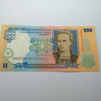 200 гривень 2001 року, Гетьман, бездоганний прес, unc!