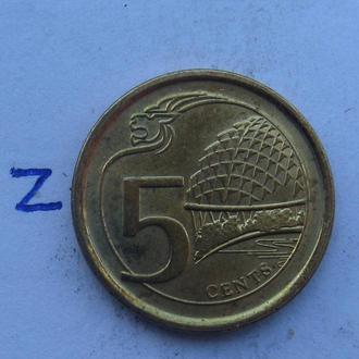 СИНГАПУР. 5 центов 2014 года.
