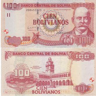 Bolivia Боливия 100 Bolivianos 1986 2014 UNC серия I