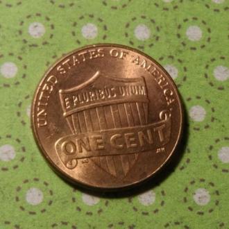 США 2015 год монета 1 цент Америка D !