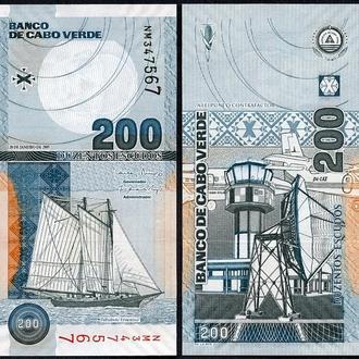 Cape Verde / Кабо-Верде - 200 Escudos 2005 UNC  - Миралот
