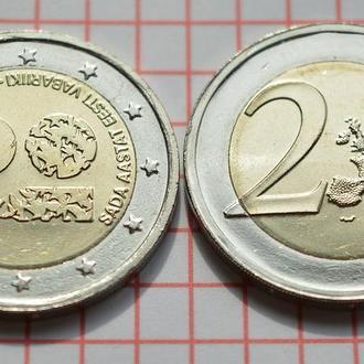 Эстония 2 евро, 2018 100 лет Эстонии