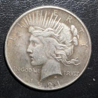 Копия серебряный доллар США 1921 года One Dollar Liberty