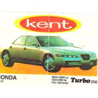 Вкладыш от жвачки Turbo (черная) №206 Honda FS-X