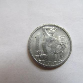 Чехословакия  1  крона  1952  год