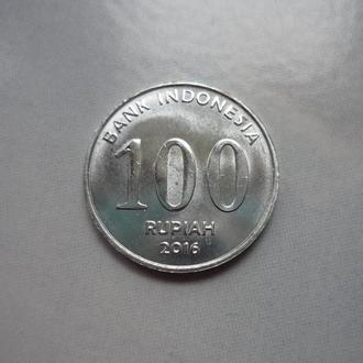 Индонезия 100 рупий 2016 состояние в коллекцию