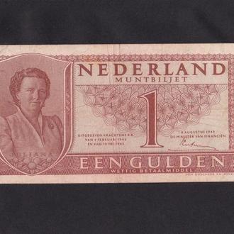 1 гульден 1949г. Нидерланды.