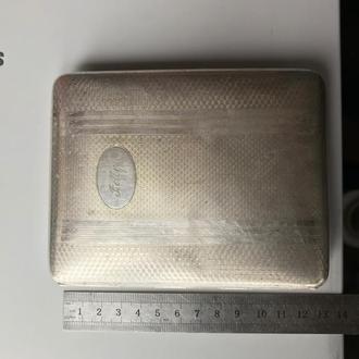 портсигар alpacca серебрение, золочение большой bolly