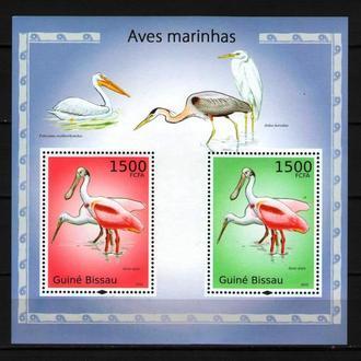 Гвинея-Бисау 2010 Фауна Птицы Аисты бл 12 евро MNH **