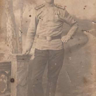 Фото. Солдат Собственного ЕИВ железнодорожного полка.