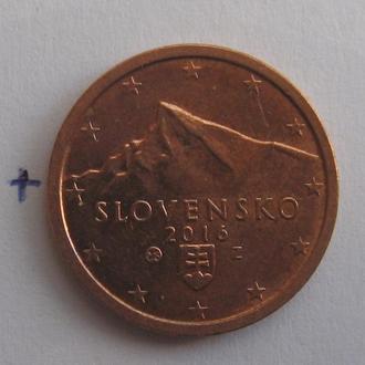 СЛОВАКИЯ, 2 евроцента 2016 года.