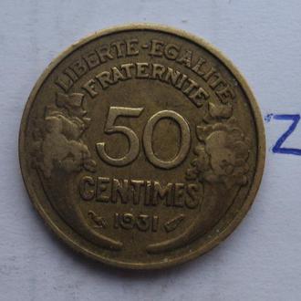 Франция, 50 сантимов 1931 года.