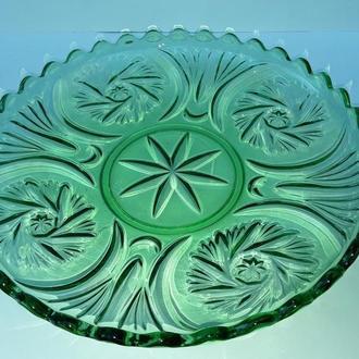 Фруктовница тарелка Германия стекло