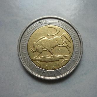 ЮАР 5 рэндов 2004 фауна биметалл