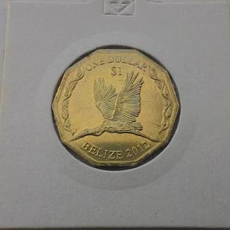 Белиз 1 доллар 2012 год Аист  аUNC!! НЕ ЧАСТАЯ!!!