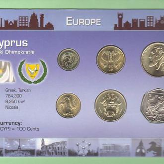 Набор монет КИПР пластик картон блистер запайка