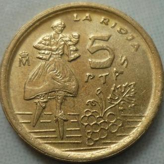 Испания 5 песет 1996 состояние