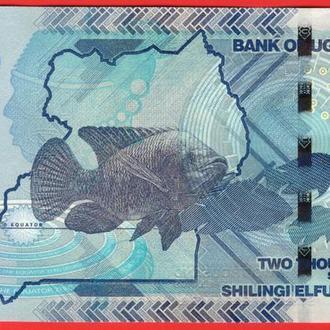 2000 Шиллингов 2010,(4,2) Уганда UNC