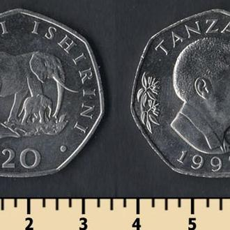 Танзания 20 шиллингов 1992