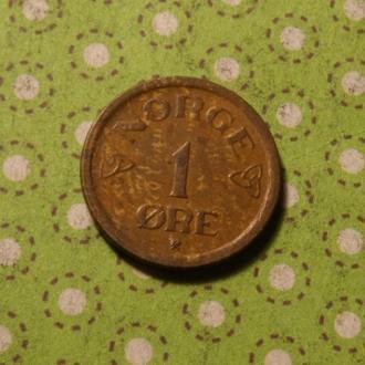 Норвегия 1957 год монета 1 эре
