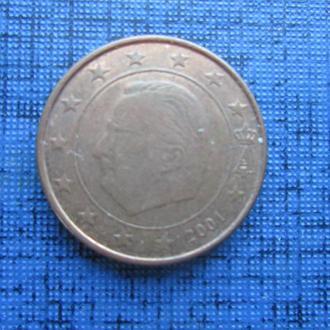 монета 1 евроцент Бельгия 2001