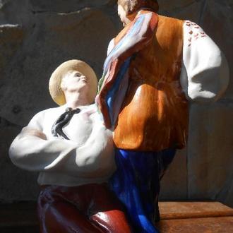 Раритет Статуэтка Украинский Танец Гопак Фарфор бисквит 1952 Артель Керамик Большая 100% Оригинал Лю