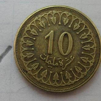 ТУНИС 10 миллимов 1997 года.