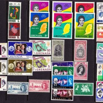 Бр. Колонии - Гренада  Лот 23  - MLH / MVLH  OG  - марки в очень хорошем состоянии