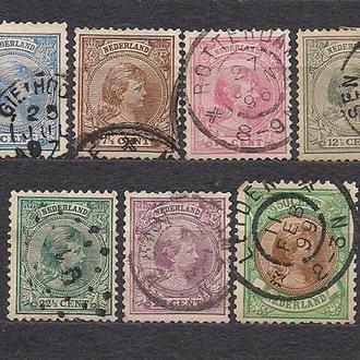 Нидерланды, 1891 г., стандартные марки, королева Вихельмина