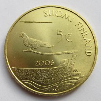 Финляндия 5 евро 2006 *150лет Демилитаризация Аландских островов*