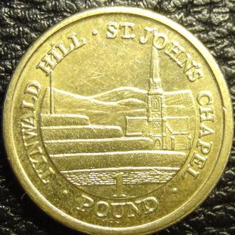 1 фунт 2016 AA о.Мен