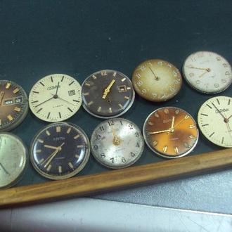 часы наручные мужские циферблат механизм слава восток чайка лот 10 шт №45