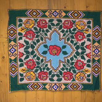 старовинний вишитий килимок ковер (№667)