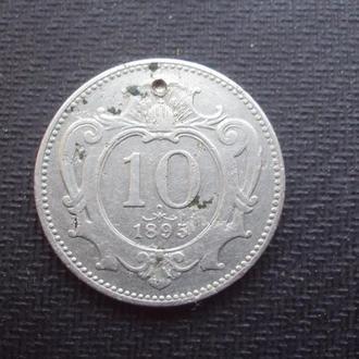 Австро-Венгрия 10 филлеров 1895г.