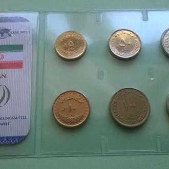 Набор ИРАН из серии - Das Geld Der Welt пластик блистер запайка набір ІРАН