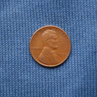 США 1 пшеничный цент 1937 г