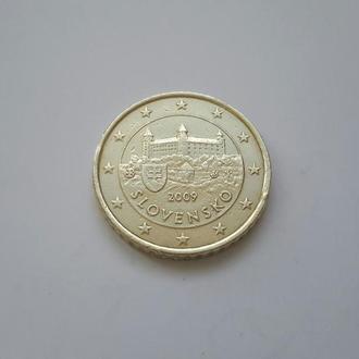 Словакия.  50 евроцентов 2009 год.