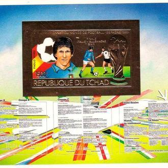 Футбол. Чад 1982 г MNH -  блок