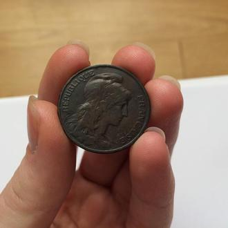 5 сантимов 1906 г. Франция.