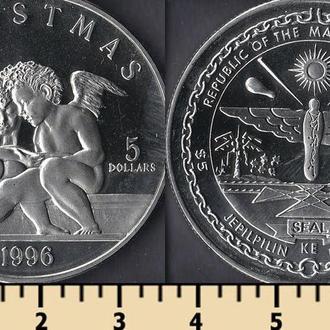 Маршалловы острова 5 долларов 1996