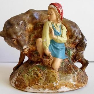Красная шапочка и волк Гипс