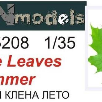 Danmodel 35208 - Модельные (макетные) кленовые листья (летние) для диорам. Полулатекс